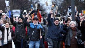 Demonstration gegen Wulff (Foto)