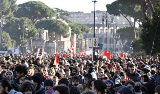 Demonstration in Rom (Foto)