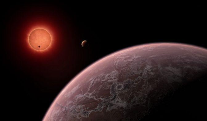 """Den Zwergstern """"Trappist-1"""" umkreisen drei Planeten, auf denen, laut einen internationalem Team von Wissenschaftlern, Leben möglich ist. (Foto)"""