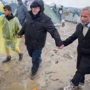 Deutsches Flugblatt rief in Idomeni zum Flüchtlings-Marsch auf (Foto)