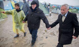 Der ehemalige Arbeitsminister Norbert Blüm am 13. März 2016 im Flüchtlingslager in Idomeni an der Grenze zwischen Griechenland und Mazedonien. Blüm hatte die Nacht in einem Zelt verbracht. (Foto)