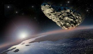 Der Asteroid QA2 hat die Erde nur ganz knapp verfehlt. (Foto)