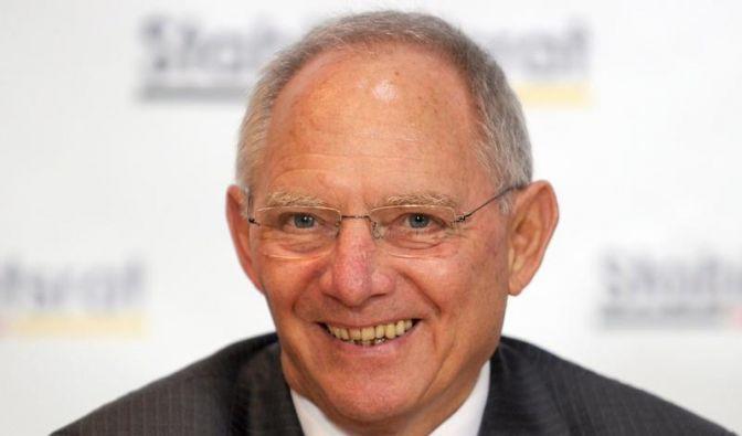 Der Finanzminister Wolfgang Schäuble ist zufrieden. (Foto)