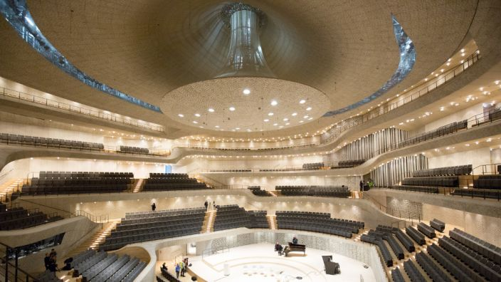 Der Große Saal in der Elbphilharmonie in Hamburg. (Foto)