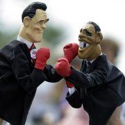 Der Kampf ums Präsidentenamt zwischen Romney (links) und Obama wird in den Swing States entschieden.