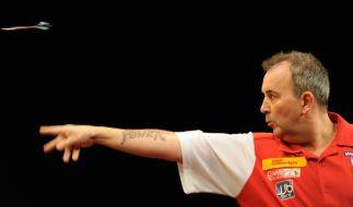 Der King of Darts: Phil Taylor. (Foto)