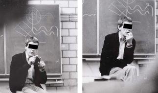 Der ehemalige Leiter der Odenwald-Privatschule, Gerold B., während des Unterrichts in den 1970er Jah (Foto)