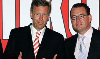 Der damalige Ministerpräsident des Landes Niedersachsen, Christian Wulff (links), und Bild-Chefredakteur Kai Diekmann, als die Welt noch in Ordnung war. (Foto)