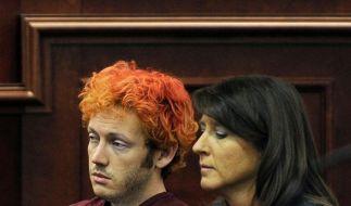 Der mutmaßliche Amokschütze von Aurora wirkte teilnahmslos und benommen bei seinem ersten Auftritt vor Gericht. (Foto)