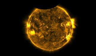 Der Nasa gelangen bei der ringförmigen Sonnenfinsternis beeindruckende Bilder. (Foto)