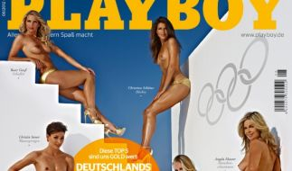 Der Playboy zeigt in der aktuellen Ausgabe die sexy Goldnixen. (Foto)