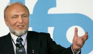 Der Präsident des Instituts für Wirtschaftsforschung an der Uni München (ifo), Hans-Werner Sinn. (Foto)