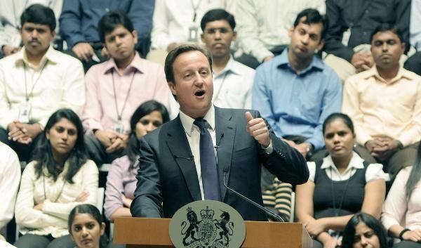 Der britische Premierminister David Cameron besucht Indien. Die Briten kommen als Bittsteller. (Foto)
