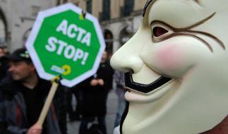 Der Protest hat Wirkung gezeigt: Das Anti-Produktpiraterie-Abkommen Acta wurde vom EU-Parlament abgelehnt. (Foto)