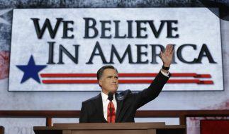 Der Republikaner Mitt Romney will Amerika zu neuer Stärke verhelfen. Wie? Das bleibt unklar. (Foto)
