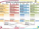 Der Spielplan zur Fußball-EM 2012. (Foto)