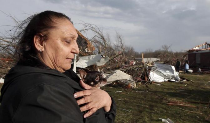 Der Sturm hat Jeanie Lewellyns Haus in New Pekin, Indiana, einfach weggeweht. (Foto)