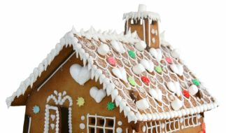 Der Traum jeder Knusperhexe: ein selbstgebackenes Lebkuchenhaus. (Foto)