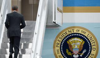 Der scheidende US-Präsident Barack Obama unternimmt eine letzte Europareise als Präsident und sagt Kanzerlin Angela Merkel in Berlin goodbye. Sie war für ihn nach eigenen Worten die wichtigste ausländische Partnerin in seiner Amtszeit. (Foto)