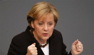 DEU Bundestag Haushalt Merkel (Foto)
