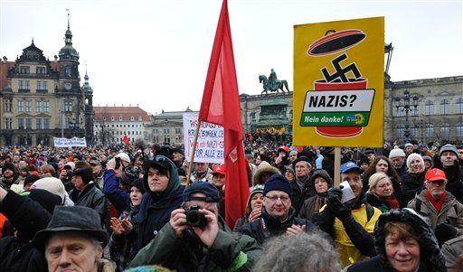 Deu Dresden Weltkrieg Jahrestag (Foto)
