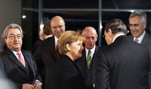 DEU Konjunktur Treffen Merkel (Foto)