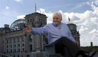 DEU Medien ARD Sommerinterview Steinmeier (Foto)