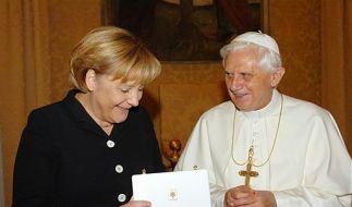 DEU Vatikan Papst Merkel (Foto)