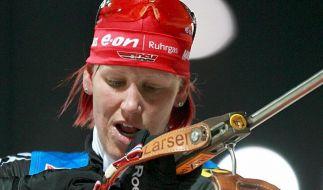 Deutsche Biathlon-Damen gewinnen Olympia-Test (Foto)