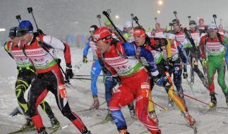 Deutsche Biathlon-Staffel Vierter in Oberhof (Foto)