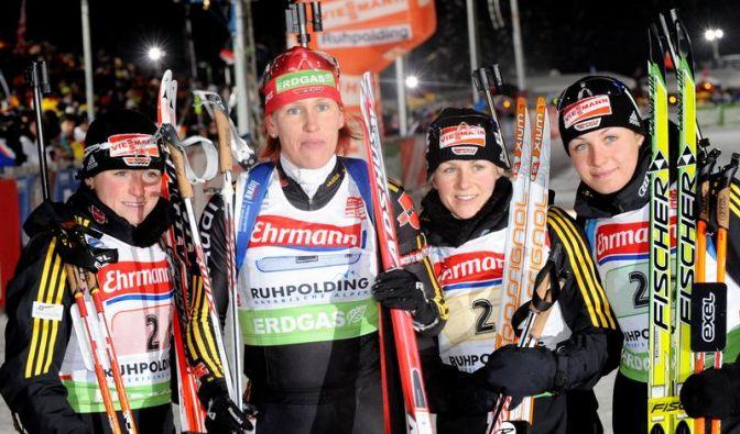 Deutsche Frauen-Staffel  (Foto)