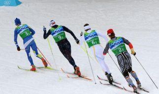 Deutsche Langlaufstaffel 6. - Gold für Schweden (Foto)