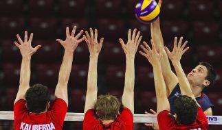 Deutsche Volleyballer «auf Wolke sieben» nach London (Foto)