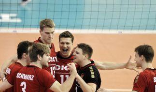 Deutsche Volleyballer schlagen Argentinien 3:0 (Foto)