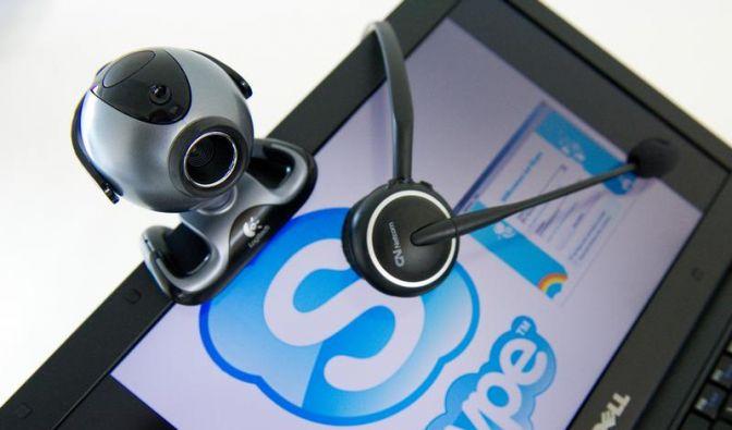 Dialog oder Gruppenbesprechung - Videochats per Webcam (Foto)