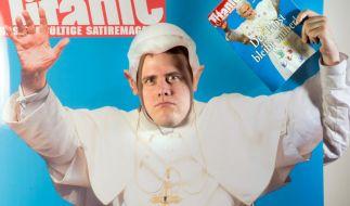 Die juristische Auseinandersetzung zwischen dem Papst und dem Satiremagazin Titanic ist vorerst beendet. (Foto)