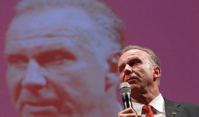 Die Bankettrede von Bayerns Vorstandschef Rummenigge (Foto)