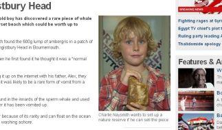 Die BBC berichtet über Charlie Naysmith und seinen Kotzebrocken. (Foto)