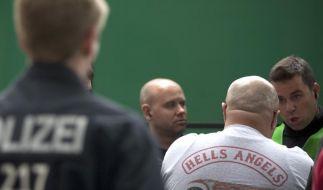 Die Beamten, die den Hells-Angels-Stützpunkt durchsuchten, waren offenbar nicht die ersten, die mit den Rockern Kontakt aufnahmen. (Foto)