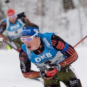 Die deutschen Biathleten um Arnd Peiffer und Simon Schempp geben sich in Antholz in der Staffel der Herren die Ehre. (Foto)