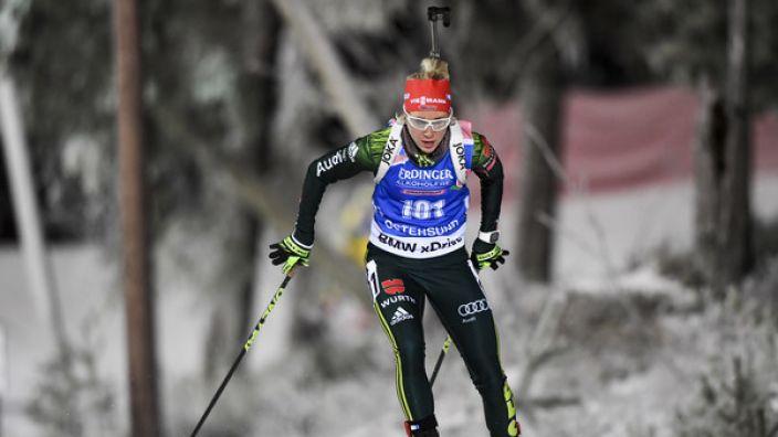 Die deutschen Biathleten müssen am Wochenende beim Sprint und in der Verfolgung punkten.