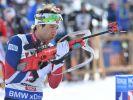 Die Biathlon-Herren greifen ab heute wieder ins Weltcup-Geschehen ein. (Foto)