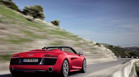 Die besten Bilder zu Audi R8 5.2 FSI Spyder: Vollblut-Sportler (Foto)