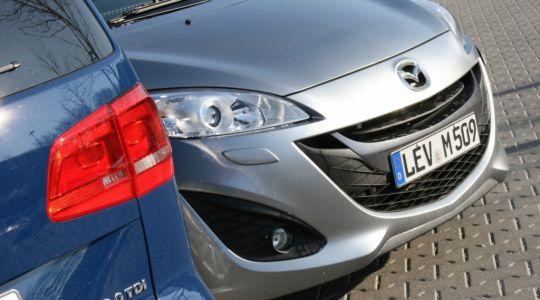 Die besten Bilder zu Mazda 5 vs. VW Touran: Starker Wind trifft frische Brise (Foto)