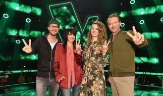 """Die Coaches von """"The Voice Kids"""": (v.l.n.r.) Mark Forster, Nena, Larissa und Sasha. (Foto)"""