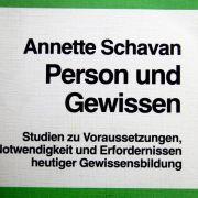 Die Dissertation von Bundesbildungsministerin Annette Schavan (CDU).