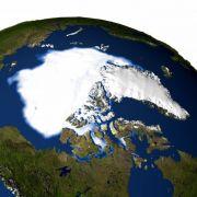 Die Eisfläche am Nordpol in einer Nasa-Aufnahme.