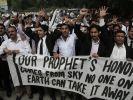 Die Entrüstung über den Mohammed-Schmähfilm ist weltweit groß. Hier demonstrieren aufgebrachte Männer in Pakistan. (Foto)