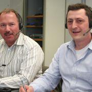 Die Experten am Telefon: Dr. Ludwig Merker (li.) und Dr. Tobias Ohde.