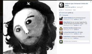 Die Facebook-Gruppe zum Jesus-Fresko hat «Che Gueborja» als Profilbild gewählt. (Foto)